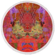 1074 Abstract Thought Round Beach Towel