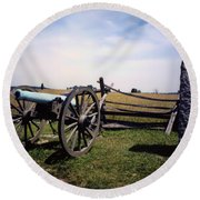 10th Mass Battery - Gettysburg Round Beach Towel
