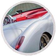 1960 Chevrolet Corvette Round Beach Towel by Jill Reger