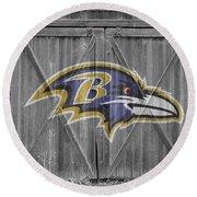 Baltimore Ravens Round Beach Towel by Joe Hamilton