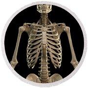 Bones Of The Upper Body Round Beach Towel