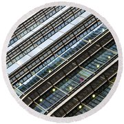 Canary Wharf London Abstract Round Beach Towel