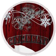 Cincinnati Reds Round Beach Towel