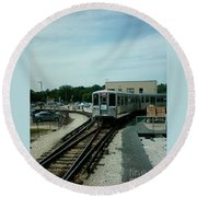 Cta's Retired 2200-series Railcar Round Beach Towel