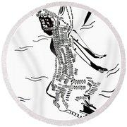 Dinka Dance - South Sudan Round Beach Towel