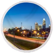 Early Morning In Charlotte Nc Round Beach Towel