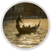 Gondola Round Beach Towel