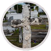 Key West Cemetery Round Beach Towel