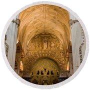 Mezquita Cathedral Interior In Cordoba Round Beach Towel
