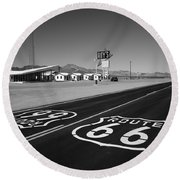 Route 66 Shield Round Beach Towel