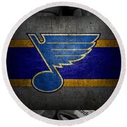 St Louis Blues Round Beach Towel