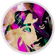 Tupac Collection Round Beach Towel