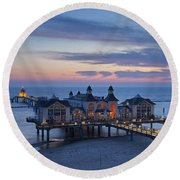 110221p087 Round Beach Towel