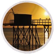 110922p030 Round Beach Towel