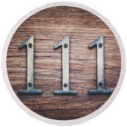 111 Or 3 Round Beach Towel