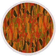 1114 Abstract Thought Round Beach Towel