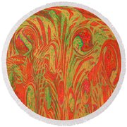 1133 Abstract Thought Round Beach Towel