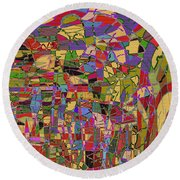1144 Abstract Thought Round Beach Towel