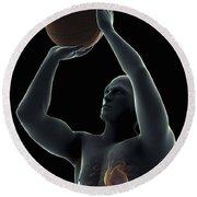 Basketball Shot Round Beach Towel