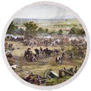 Civil War Gettysburg Round Beach Towel