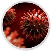 Swine Influenza Virus H1n1 Round Beach Towel