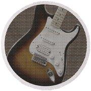 12 Thousand Electric Guitars Round Beach Towel