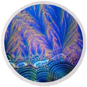 Vitamin C Crystal Round Beach Towel