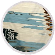 Water Colours  Round Beach Towel