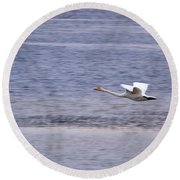 Whooper Swan Round Beach Towel