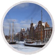 120206p263 Round Beach Towel