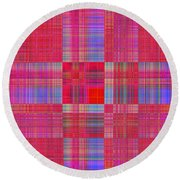 1212 Abstract Thought Round Beach Towel