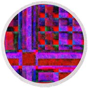 1227 Abstract Thought Round Beach Towel