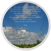 123- Rumi Round Beach Towel