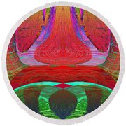 1232 Abstract Thought Round Beach Towel