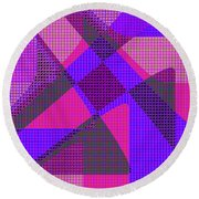 1038 Abstract Thought Round Beach Towel