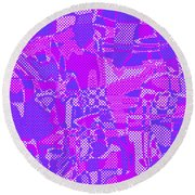 1250 Abstract Thought Round Beach Towel