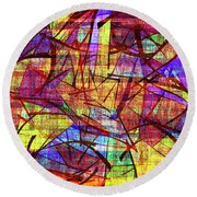 1261 Abstract Thought Round Beach Towel