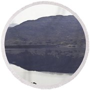 Beauty Of A Loch And Hills In The Scottish Highlands Round Beach Towel