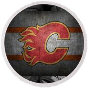 Calgary Flames Round Beach Towel
