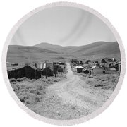 California Bodie, 1962 Round Beach Towel