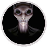 Extraterrestrial Life Round Beach Towel