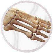 Foot Bones Round Beach Towel