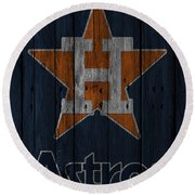 Houston Astros Round Beach Towel