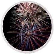 Local Fireworks Round Beach Towel by Mark Dodd