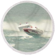 Port Huron Sarnia International Offshore Powerboat Race Round Beach Towel