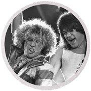 Van Halen - Sammy Hagar With Eddie Van Halen Round Beach Towel