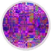 1302 Abstract Thought Round Beach Towel