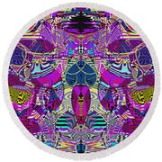 1310 Abstract Thought Round Beach Towel