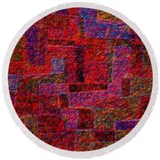 1346 Abstract Thought Round Beach Towel