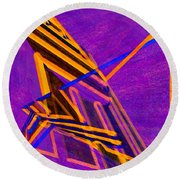 1359 Abstract Thought Round Beach Towel